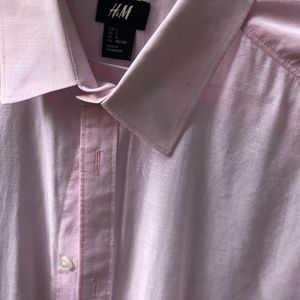 Light Pink Linen Cotton Button Down Shirt